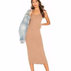 Enza Costa Nude Tank Dress Small Knit Bodycon